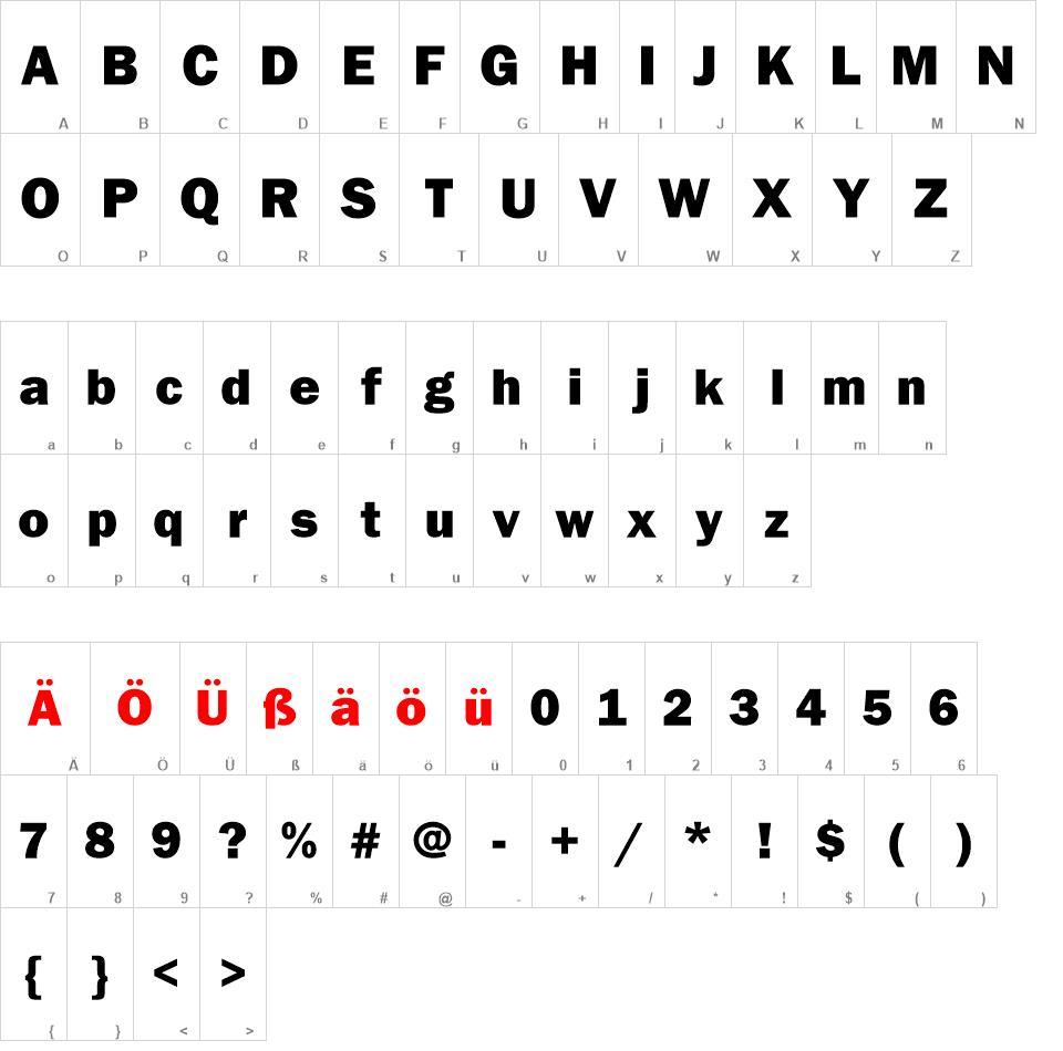 Franklin Gothic Heavy free font