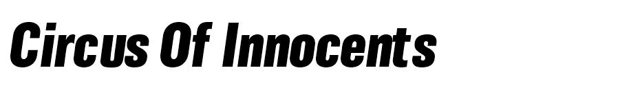 Circus of Innocents font