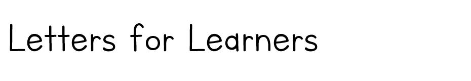 Letters for Learners font