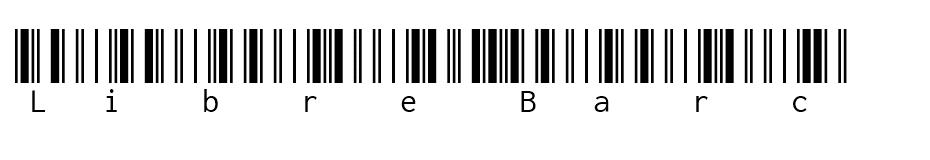Libre Barcode 39 Extended Text font