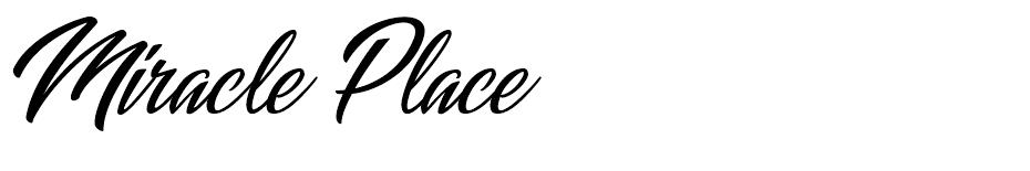 Miracle Place font