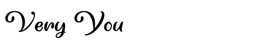 Very You Font font
