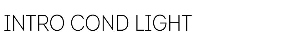Into Cond Light font