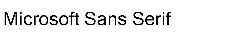 Microsoft Sans Serif Free Font