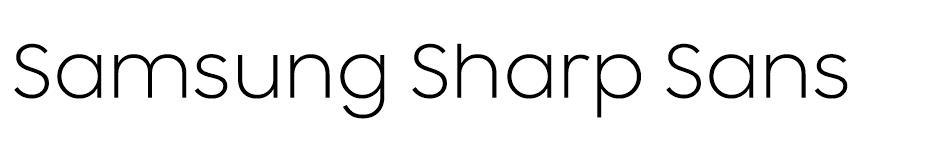 Samsung Sharp Sans free font
