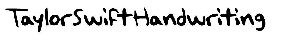Taylor Swift Handwriting Free Font