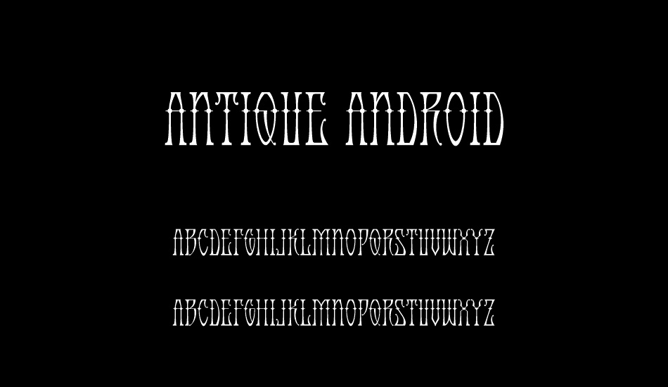 Download Antique Android free font