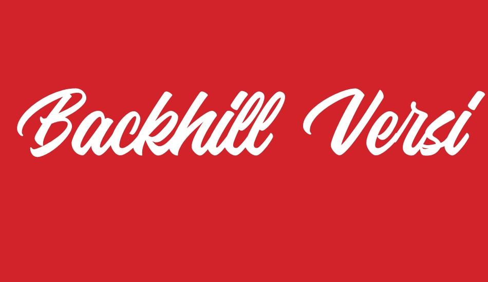 Backhill Free Version Font free font