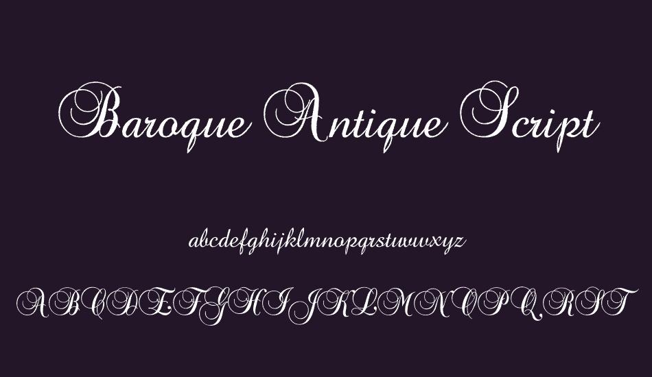 Baroque Antique Script Free Font