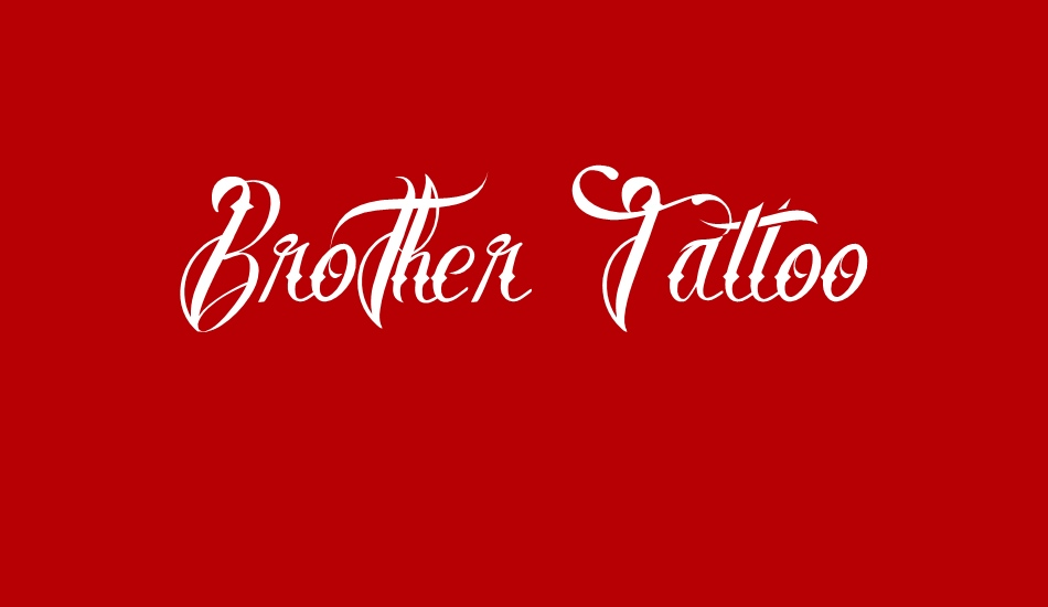 brother-tattoo font big