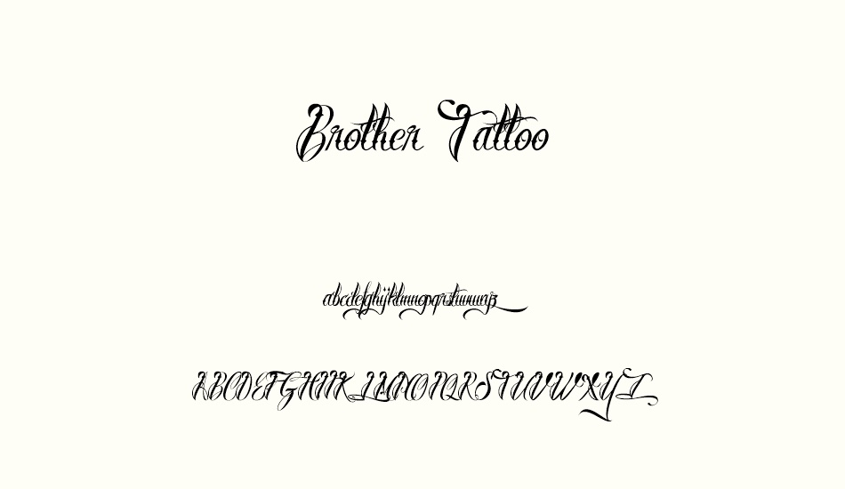 brother-tattoo font