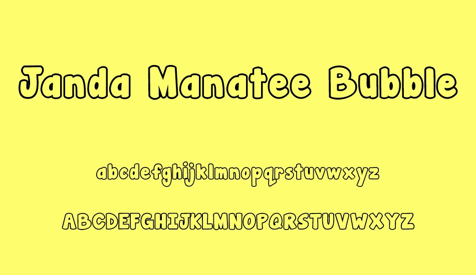 Jandamanateebubble Free Font