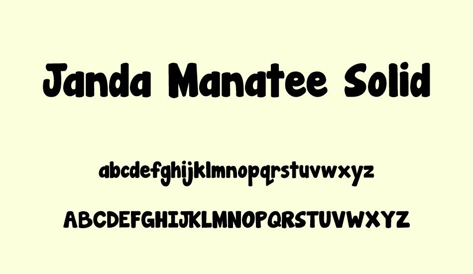 Janda Manatee Free Font