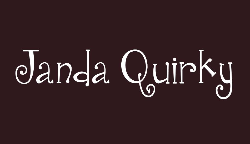 Janda Quirkygirl Free Font