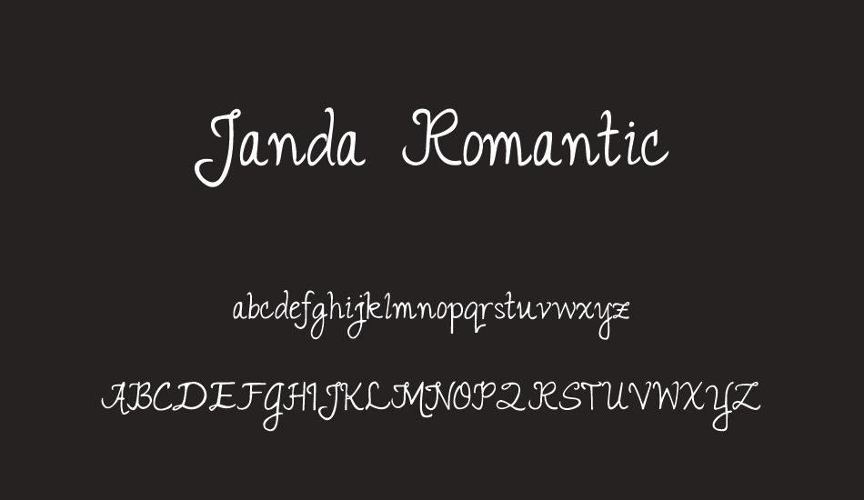 Janda Romantic Free Font