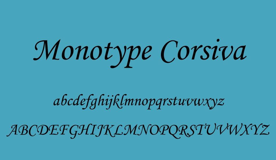 Monotype Corsiva Free Font