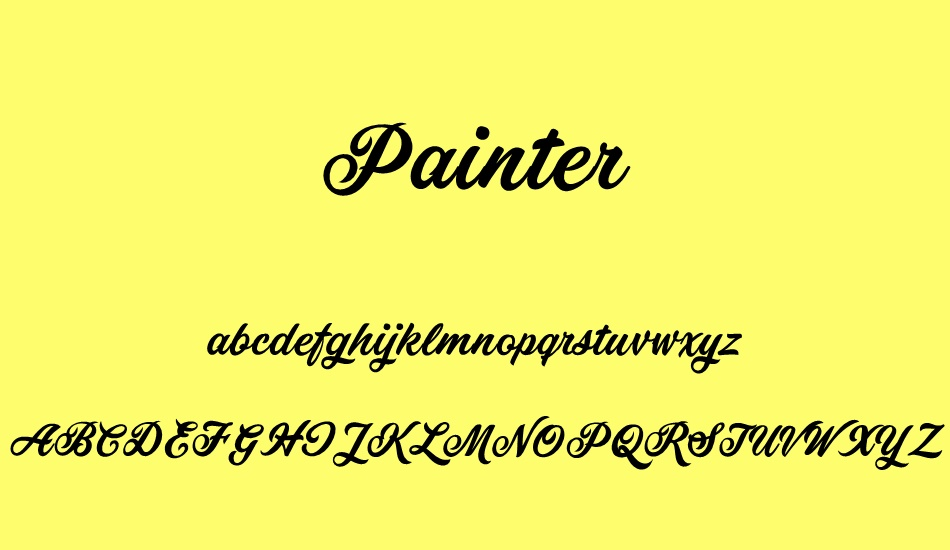 Painter PERSONAL USE ONLY font