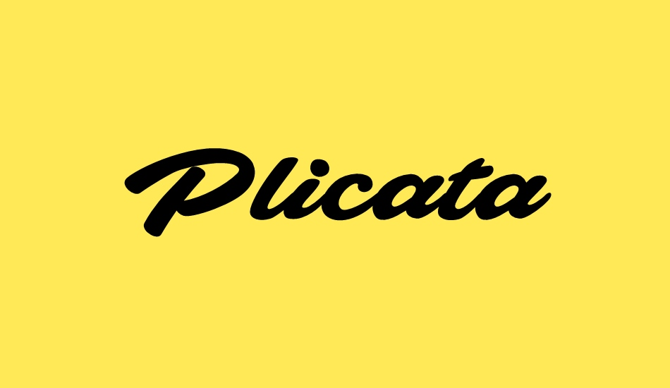 Plicata PERSONAL USE ONLY font big