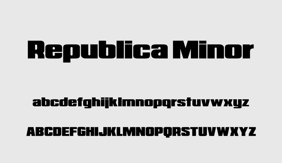 republica-minor font