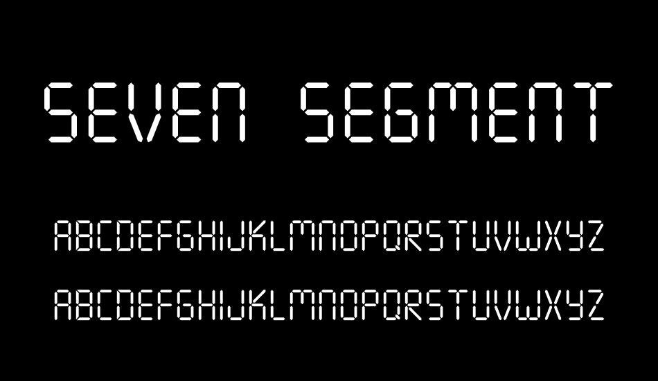 Seven Segment Free Font